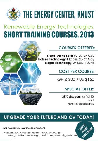 TEC KNUST short courses in Renewable Energy   ECREEE