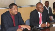From L - R: H.E. Mr. Marcel Alain De Souza, President of the ECOWAS Commission and Mr. Mahama Kappiah, Executive Director of ECREEE
