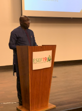 H.E. Mr. Mahamudu Bawumia, Vice-President of Ghana During ESEF19