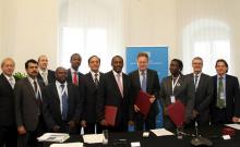 Signing ceremony between EAC, Austria and UNIDO