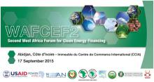 WAFCEF 2 Second West African Forum for Clean Energy Financing