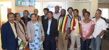 East Timorese delegation with staff members of ECREEE group picture of the participants in the meeting