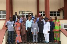 Participants and trainers of first rural HP civil engineering training at FUTA in Nigeria