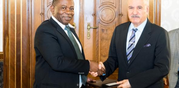From L - R: Mr. Mahama Kappiah, Executive Director of ECREEE and Mr. Suleiman J Al-Herbish, OFID Director-General