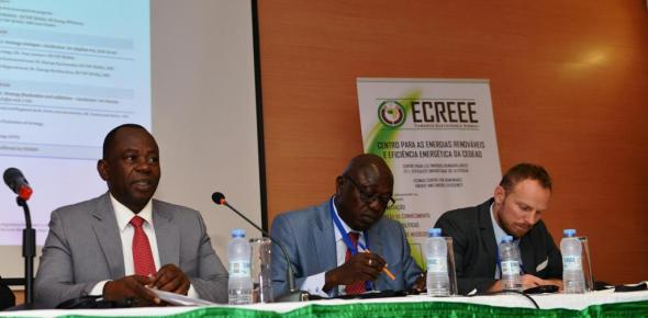 Mr. Mahama Kappiah, Executive Director of ECREE, Mr. Baba Moussa, Director of Infrastructure and Energy of the African Union Commission