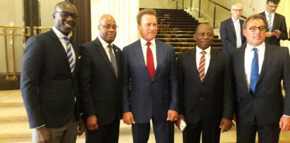 Arnold Schwarzenegger,Mahama Kappiah, Morlaye Bangoura, ECREEE